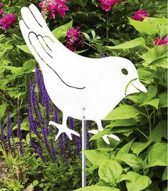 #Gartenstecker #Vogel #Bird #Edelstahl #Garten #Deko #Deco von #HEIBI