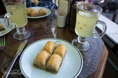 Baklava with lime juice