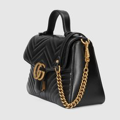 Sylvie leather mini bag in Black leather Online Shopping, Gucci Padlock, Leather Key Case, Gucci Store, Gucci Gifts, Gg Marmont, Boston Bag, Small Shoulder Bag, Luxury Bags