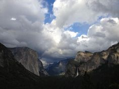 Tunnel View - your first view of the Valley from the house.