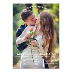 Engagement Photos Wedding Invitation