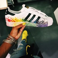 shoes adidas adidas originals sneakers nike custom made custom made shoes  black red orange green blue purple paint splattered nike sneakers white  sneakers ... 1fc54eaf35c