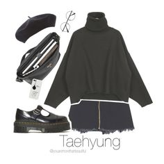 BTS Inspired [Black] by youaremorethanbeautiful on Polyvore featuring polyvore, fashion, style, Dr. Martens, Mulberry and clothing