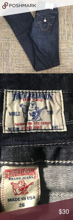 "True Religion Jeans - Make an Offer Size 26, True Religion Jeans.  In excellent pre-owned condition.  Inseam 33"". True Religion Jeans"