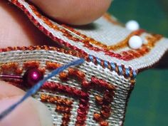 Joining stitching panels with whip stitch