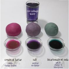 Red cabbage dye and recipe for magic playdough Natural Dye Fabric, Natural Dyeing, Fabric Painting, Fabric Art, Tinta Natural, Tie Dye Crafts, Red Cabbage, Fabric Manipulation, How To Dye Fabric