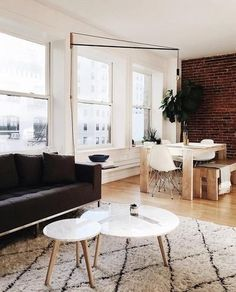 Article offers stylish modern, mid-century and scandinavian furniture from world renowned designers at accessible prices. Round Wood Coffee Table, Solid Wood Table, Coffee Tables, Scandinavian Style Home, Scandinavian Furniture, Lawn Furniture, Modern Furniture, White Dining Chairs, Mid Century Modern Living Room