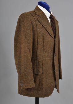 Men's Vintage Sport Back Norfolk Tweed Jacket - Sport Back  42-44