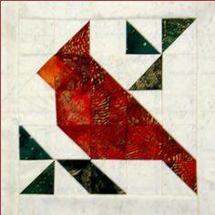 Basic Cardinal -- add prairie points. Christmas Cardinal Kit
