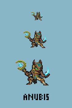 Anubis - God of the Dead Emote / Sprite we made for Smitewww.twitch.tv/smitegame