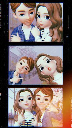 Boys Wallpaper, Couple Wallpaper, Happy Cartoon, Cartoon Art, Love Cartoon Couple, Girl Emoji, Hijab Cartoon, We Bare Bears, Cute Cartoon Wallpapers