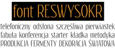 font Reswysokr by gluk
