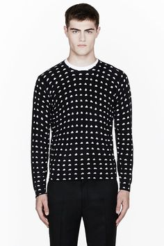 76dbde586 KENZO Black Cashmere Mini-Cloud Print Crewneck Sweater Kenzo Clothing, Mens  Fashion Shoes,