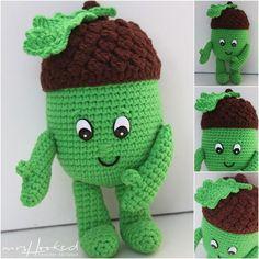 Eddy eikel | In Haken | Bloglovin' Diy Crochet Amigurumi, Amigurumi Patterns, Knit Crochet, Crochet Hats, Crochet Fruit, Crochet Food, Lidl, Diy Haken, Crochet For Beginners