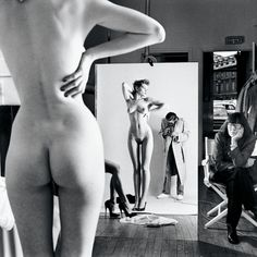 Self-Portrait with Wife and Models from the series Big Nudes Vogue Studio, Paris, 1981 © Helmut Newton Estate