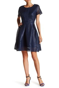 Short Sleeve Organza Woven Dress by Romeo & Juliet Couture on @nordstrom_rack