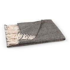 Comfy and cozy, our generously sized all-wool throw blanket in handsome herringbone is the perfect partner for curling up for book-reading and TV-watching and w...