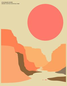 grand canyon national park art print by jazzberry blue Art And Illustration, Graphic Design Illustration, Illustrations Posters, Graphic Artwork, Graphic Design Posters, Graphisches Design, Vector Design, Print Design, Plakat Design