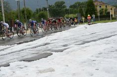 Giro d'Italia 2014 - Stage 13 - Photo: © Bettini   Hail littered the course in the last 30km