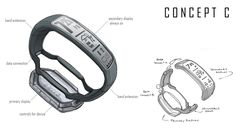 Samsung Galaxy Gear Fit by IAN GALVIN, via Behance