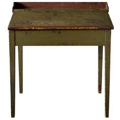 Green Painted School Masters Desk | From a unique collection of antique and modern desks at http://www.1stdibs.com/furniture/storage-case-pieces/desks/