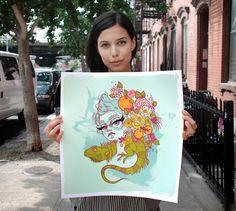 Flora Hand-Embellished Edition by Tatiana Suarez, $75