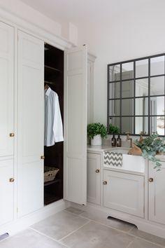 Best Indoor Garden Ideas for 2020 - Modern Open Plan Kitchen Living Room, Home Living Room, Living Spaces, Drying Cupboard, Wet Room Bathroom, Humphrey Munson, Laundry Room Design, Laundry Rooms, Wet Rooms