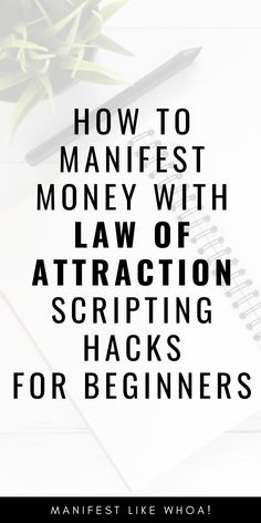 WOW law of attraction scripting manifesting really works to manifest money. Manifesting money is super simple with law of attraction tricks and law of Manifestation Journal, Manifestation Law Of Attraction, Law Of Attraction Affirmations, Mantra, Law Of Attraction Love, Attraction Spells, Money Spells, Luck Spells, Attract Money