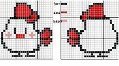 Portachiavi Cross Stitch For Kids, Mini Cross Stitch, Beaded Cross Stitch, Cross Stitch Animals, Cross Stitch Charts, Cross Stitch Embroidery, Cross Stitch Patterns, Peyote Stitch, Pixel Crochet Blanket