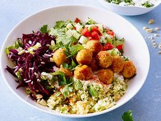 ohne Weizen kochen Oriental falafel bowl recipe Toronto Heating And Air Conditioning Ask anyone from Lacto Vegetarian Diet, Vegetarian Recipes Easy, Paleo Recipes, Healthy Dinner Recipes, Crockpot Recipes, Healthy Snacks, Nom Nom Paleo, Snacks Sains, Clean Eating Snacks