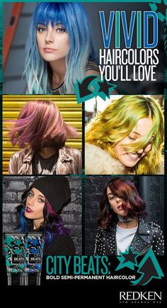 Rock your boldest haircolor with new City Beats acidic conditioning color cream. Now you can create the edgiest vibrant shades inspired by the streets of NYC. Feel the energy, hear the beat and discover 12 stay-true hues that let you unleash your boldest look. No-mess cream formula for easy application and long-lasting semi-permanent results.