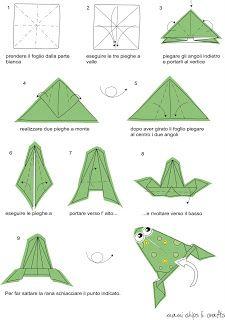 tutorial origami rana