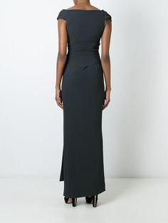 Vivienne Westwood длинное платье с драпированным вырезом