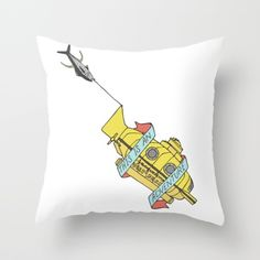 This Is An Adventure   The Life Aquatic with Steve Zissou Throw Pillow