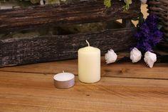 Κεριά Κυλινδρικά Εκρού Φ4x6εκ Pillar Candles, Taper Candles