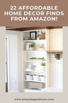 Here are 22 amazing, affordable home decor items from amazon! Organization and storage items, baskets, plants, rugs, and more! Decorate your home with these items perfect for anyone on a budget. Amazon Home, Nook And Cranny, Wall Organization, Affordable Home Decor, Black Mirror, Home Decor Items, Built Ins, New Kitchen, Bathroom Medicine Cabinet