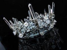 Quartz Crown Crystal Crown Branch Crown Wedding Crown Headpiece Elven Crown Quartz Tiara Bridal Tiara Raw Quartz  Raw gemstone headwear