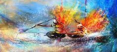 Image result for kayak paintings