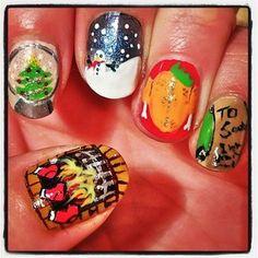 christmas nail art mix by sammystaines - Nail Art Gallery nailartgallery.nailsmag.com by Nails Magazine www.nailsmag.com #nailart