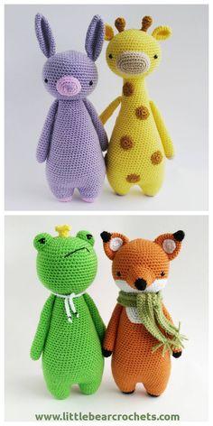 Mesmerizing Crochet an Amigurumi Rabbit Ideas. Lovely Crochet an Amigurumi Rabbit Ideas. Crochet Fox Pattern Free, Crochet Animal Patterns, Stuffed Animal Patterns, Love Crochet, Crochet Patterns Amigurumi, Amigurumi Doll, Crochet Animals, Crochet Dolls, Crochet Yarn
