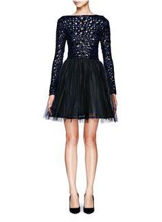 ALICE + OLIVIA - Bergen embellished ballerina dress