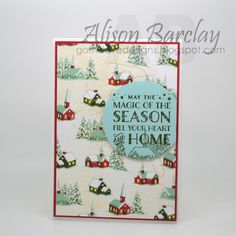 Gothdove Designs - Alison Barclay - Stampin' Up! Australia - Stampin' Up! Cozy Christmas #stampinup #stampinupaustralia #gothdovedesigns #christmas #card #gold #twine