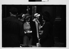 Walker Evans | [Three 35mm Film Frames: Sidewalk Shoppers Outside Klein's Department Store, Union Square, New York City] | The Met