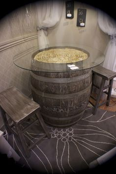 Wine Barrel Table Design, Pictures, Remodel, Decor and Ideas