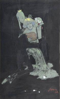 Figurative Painting by Polish Artist Witold Wojtkiewicz
