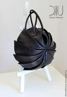 Купить Кокон макси черная - черный, Кожаная сумка, круглая сумка, кожа натуральная