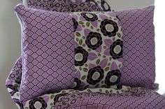 Cuddle Pillow - Lilac Meadow $35