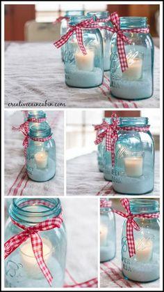 Mason Jar Candles for Holiday.