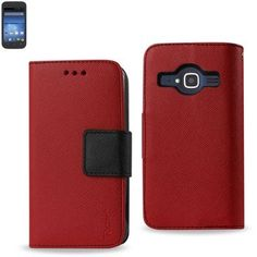 Reiko Wallet Case 3 In 1 For ZTE Concord 2 Z730 Red With Interior Polymer