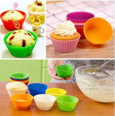 12pcs Silicone Cute Cupcake Liners Mold Mould Bakeware Baking Cake Pastry Tools | Home, Furniture & DIY, Cookware, Dining & Bar, Baking Accs. & Cake Decorating | eBay!